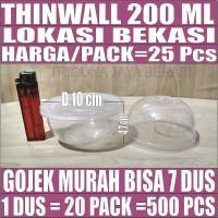 Thinwall 200ml Cup Puding Pack 25pcs Mangkuk Plastik Kcl Gojek Bekasi