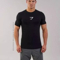 Kaos LOGO GYM SHARK / Baju Training / Kaos fitness fitnes