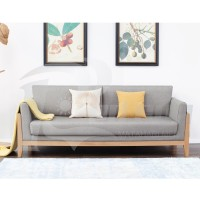 sofa Minimalis 2 Seater Kursi Tamu Modern kayu Jepara