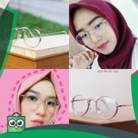 Harga frame akemi kacamata fashion pria wanita murah trendy lensa | antitipu.com