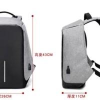 Tas Ransel Anti Maling USB Tas Model XD Design Backpack Anti Theft -
