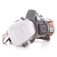 3M Masker Gas Respirator - 6200 - Gray