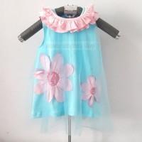 PB Baju Pesta Dress Bunga Kutung Anak Bayi Perempuan Polkadot Glitter