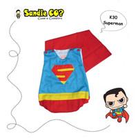 Pakaian Bayi Lucu Jumper Karakter Kostum Superhero Superman