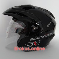 Helm GM Imprezza Lama polos hitam Double Visor