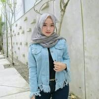 baju gamis wanita terbaru FRINGE JAKET JEANS baju atasan wanita muslim