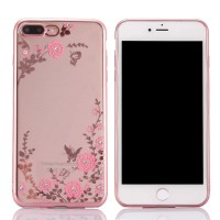 Oppo A3S /A5 2018 Silicone Flower with diamond soft case casing hp