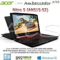 Acer Nitro 5 AN515-52 | Ci7-8750H | GTX1050 | 16GB Optane + 4GB | 1TB