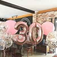Balon Foil Angka Rose Gold 100cm