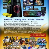 Paket Komputer PC Rakitan Gaming Intel Core i3 Clarkdale
