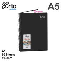 Arto A5 Wire-O PP Cover Sketch Book 110gsm - Arto Sketch Book A5