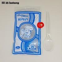 Sendok Makan Plastik Bening ROMAN isi 25 pcs Kualitas Bagus