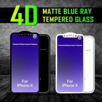 Tempered Glass 4D Matte Blueray Full Cover IPHONE 6 6s 7 8 PLUS 10 X