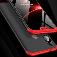 Xiaomi Mi A2 Lite Redmi 6 Pro MIA2 Hard Case 360 Casing GKK FULL BLACK