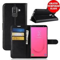 Flip Case PU Leather Slot Card Premium Cover Case Casing HP Samsung J8