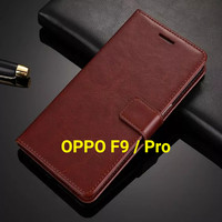 Flip Cover OPPO F9 OPPOF9 Pro Wallet Leather Case Casing HP
