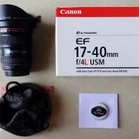Lensa Canon EF 17-40 mm f/4 L USM Wide 17-40mm f/4L f4 Like New UB
