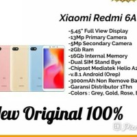 HP XIAOMI REDMI 6A (XIOMI MI 6 A RAM 2GB INTERNAL 16GB 2/16 GB)