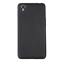 Oppo Neo 9 A37 Ultra Slim Matte Soft Case Cover TPU Carbon Black Clear