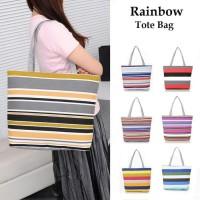 ICS2 TC15 Rainbow Canvas Tote Bag Tas Kanvas Pelangi 42fdbfdb612f5
