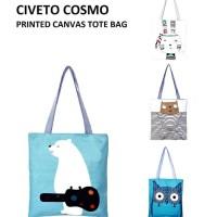 ICS2 TC17 Civeto Cosmo Printed Canvas Tote Bag Tas Selempang 58a4d2d3e330c