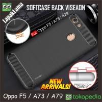 Softcase TPU Carbon Fiber Slim Case Cover Casing HP Oppo F5 A73 A79