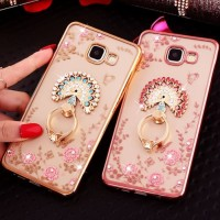 Softcase Flower Ring Case Casing Cover All Type Iphone Xiaomi Samsung