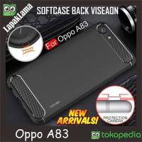 Softcase TPU Viseaon Carbon Fiber Slim Case Cover Casing HP Oppo A83