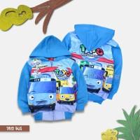 Jaket Anak Laki-Laki Tayo Printing Biru