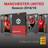kartu bola Fezballer Cards Manchester United season 2018 / 2019