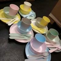 Jual Cutlery Set Alat makan Anak set Ikea Kalas Alat makan Bayi BPA FREE Murah