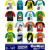 Kaos anak raglan junior size 68101214