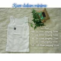 Kaos Dalam Polos Merk MINIME size L / Pakaian Bayi