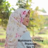 Harga pakaian muslim segi empat bahan maksmara motif printing fashion | antitipu.com