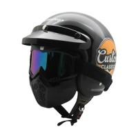 Helm Bogo CarGloss Custom Clash Ride Black   Pet