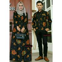 Couple Gamis Murah Batik Nirwana Kebaya Sogan Best Seller