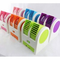 Best Seller Kipas Angin Model AC Portable Mini Duduk Double Fan Sejuk