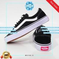 Sepatu Sneakers 3 VANS OLD SKULL BLACK / HITAM / GRADE ORI / MADE IN V