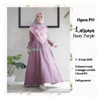 Larima dress gamis katun supernova busui original GREENISM