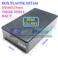 Harga box plastik hitam 100x60x25mm