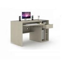 Meja Komputer dilengkapi Tray Keyboard dan CPU Space Tecido Series