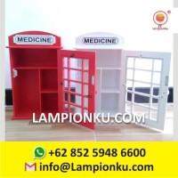 Kotak Obat P3K Dinding Unik Murah Ala Telephone di Malang