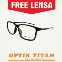 Harga frame kacamata minus baca pria wanita 3217 hitam kilap | antitipu.com