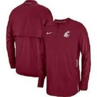 Nike Washington State Cougars Crimson Sideline Lockdown HalfZip Jacket