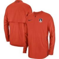 Illinois Fighting Illini Nike 2018 Sideline Lockdown Half-Zip Jacket