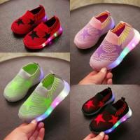 Sepatu Lampu Anak [22-31] Shoes Star Led Sepatu Anak Import