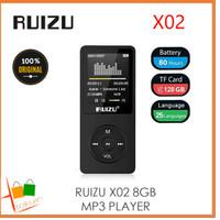 ORIGINAL RUIZU X02 8GB MP3 Player MURAH Alt X05 X06 X08 X18 X50