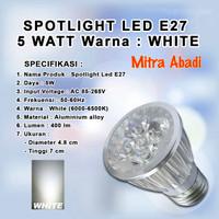 Lampu Sorot LED Halogen/Spotlight LED 5W Putih 6000-6500K Fitting E27