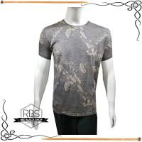 Grass Men's Baju Kaos Oblong T-shirt Pria Slim Fit Abstract Batik