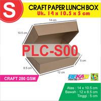 CRAFT Paper Lunch Box / Kotak Makan Polos Ukuran S    14 x 10.5 x 5 cm
